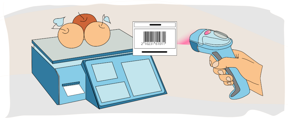 Scanning Barcodes with Embedded Weight